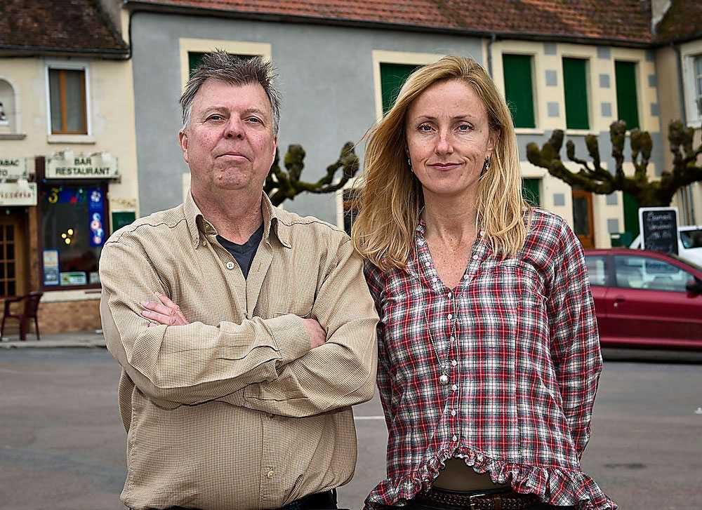 Aftonbladets team i Frankrike – Wolfgang Hansson och Lotte Fernvall.