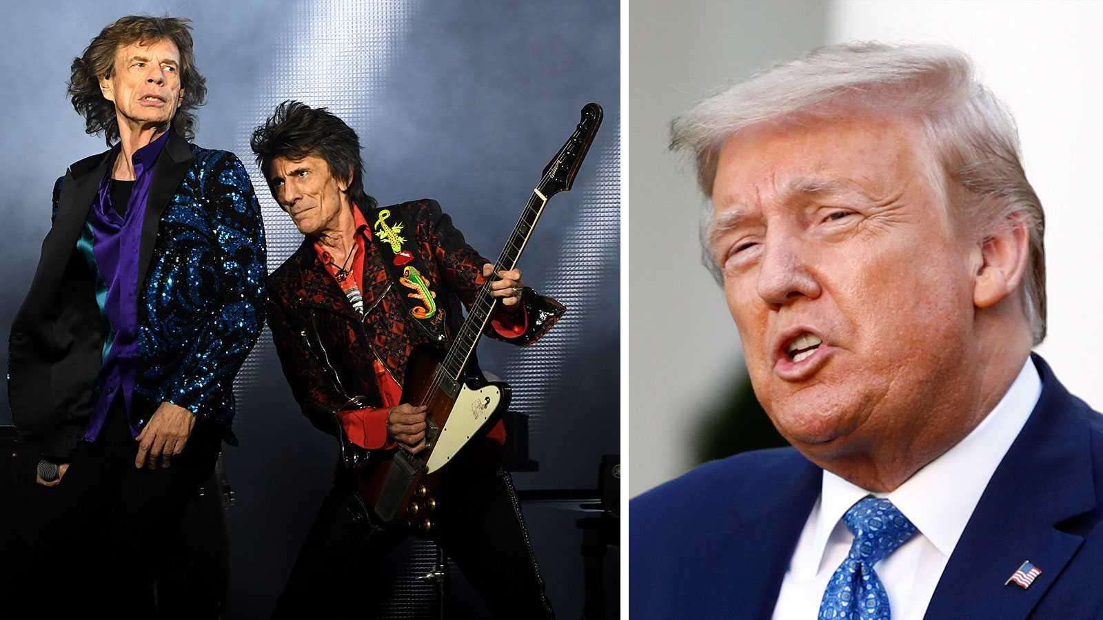 Rolling Stones hotar att stämma Donald Trump