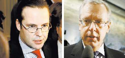 Vart tog deras raseri vägen? Anders Borg och Mats Odell kom ut från bankmötet som två mesar. Mötet som skulle tvinga in bankerna i stabilitetsplanen slutade i idel artiga fraser.