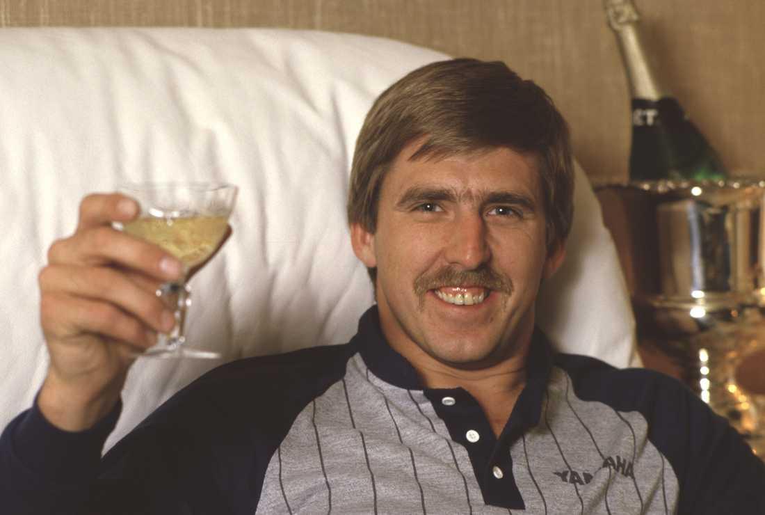 Håkan Carlqvist efter efter VM-triumfen 1984