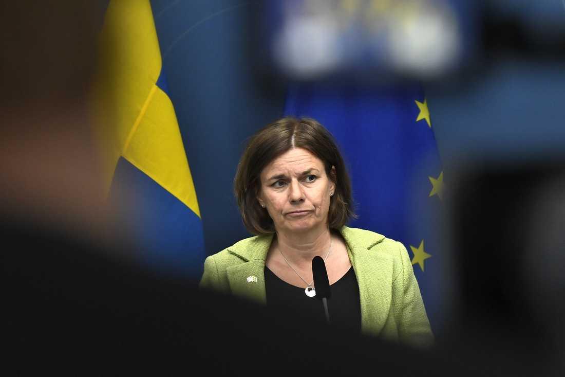 Isabella Lövin, ett av Miljöpartiets språkrör. Arkivbild.