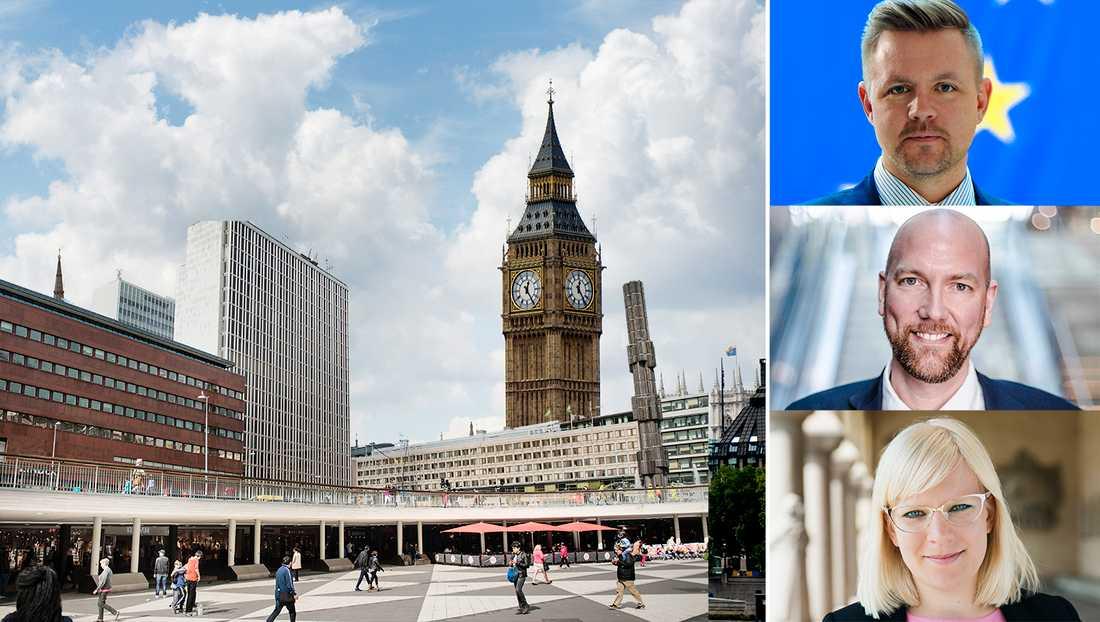 Efter Storbritanniens utträde ur EU så har möjligheten att ta över London som en av Europas ledande städer dykt upp. Men först måste en rad reformer genomföras, skriver debattörerna.  Bilden är ett montage.