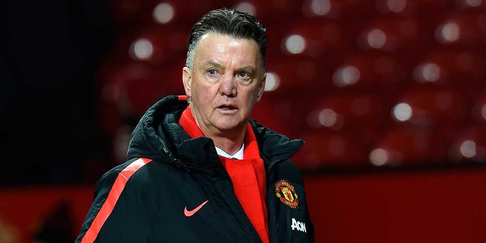 Manchester Uniteds tränare Louis van Gaal.