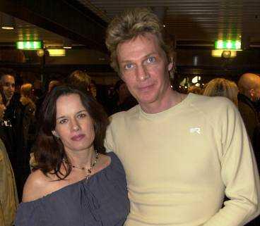 Tillsammans med sin fru Malin Berghagen Nilsson.