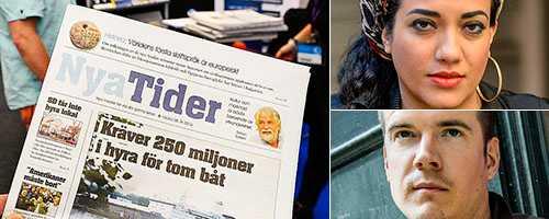 Den högerextrema tidningen Nya Tiders närvaro på Bokmässan delar Kultursverige. I dag uppmanar Åsa Linderborg till en öppen och saklig debatt. Ovan: Athena Farroukhzad, författare. Nedan: Gunnar Ardelius, ordförande i Författarförbundet.