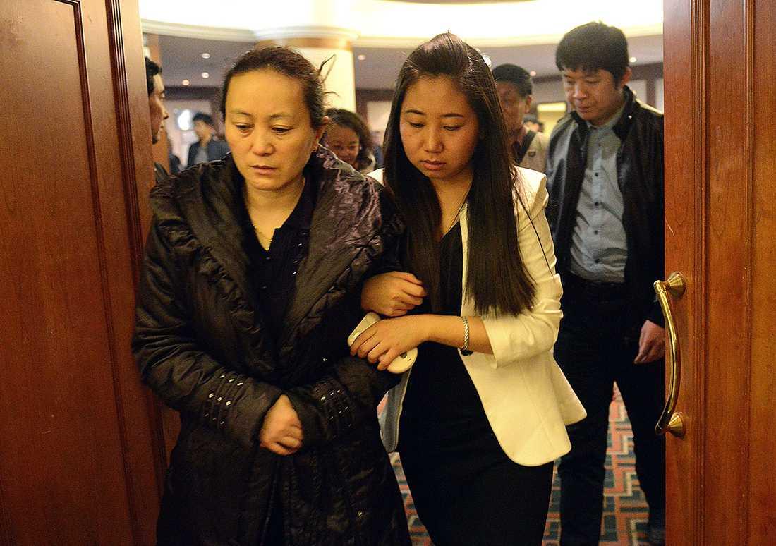 Anhöriga till offer på MH370.
