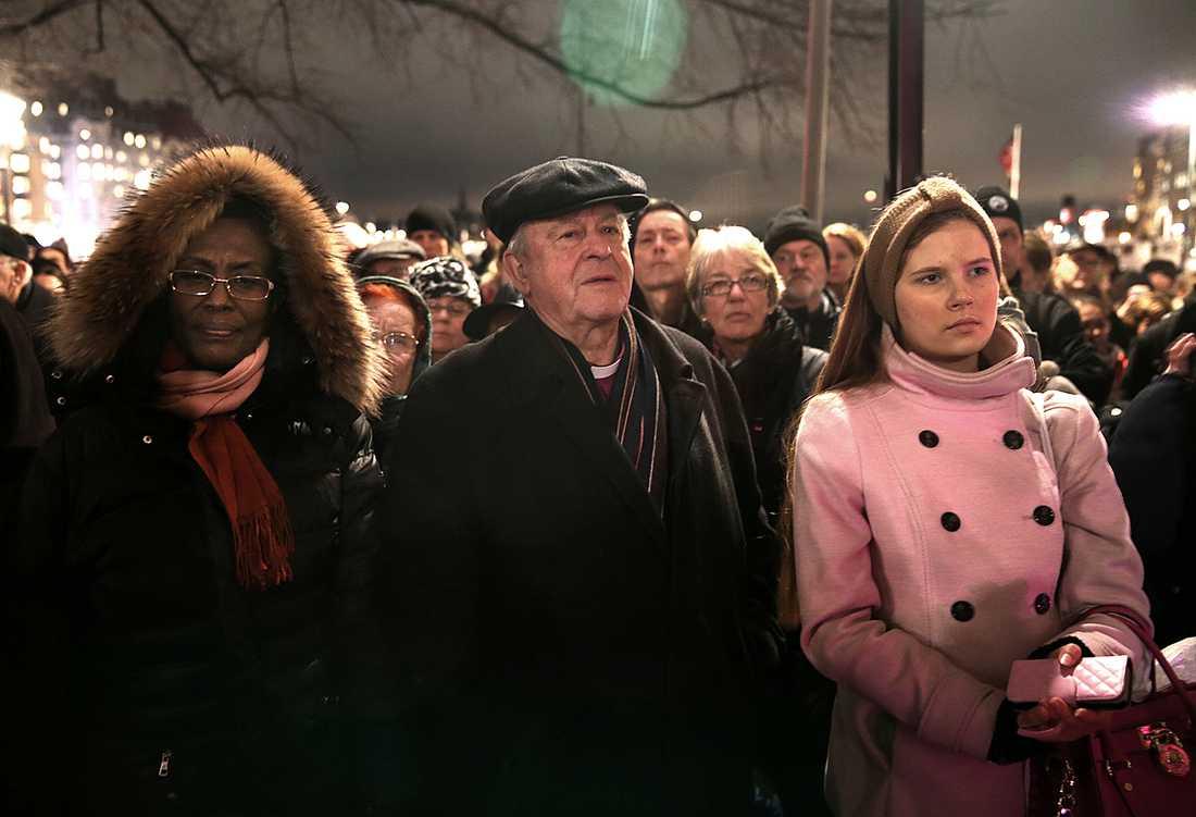 Hundratals människor samlades under tisdagen för att uppmärksamma att det är 70 år sedan koncentrationslägret Auschwitz-Birkenau befriades.