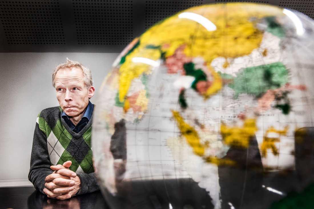 Miljöprofessor Johan Rockström.