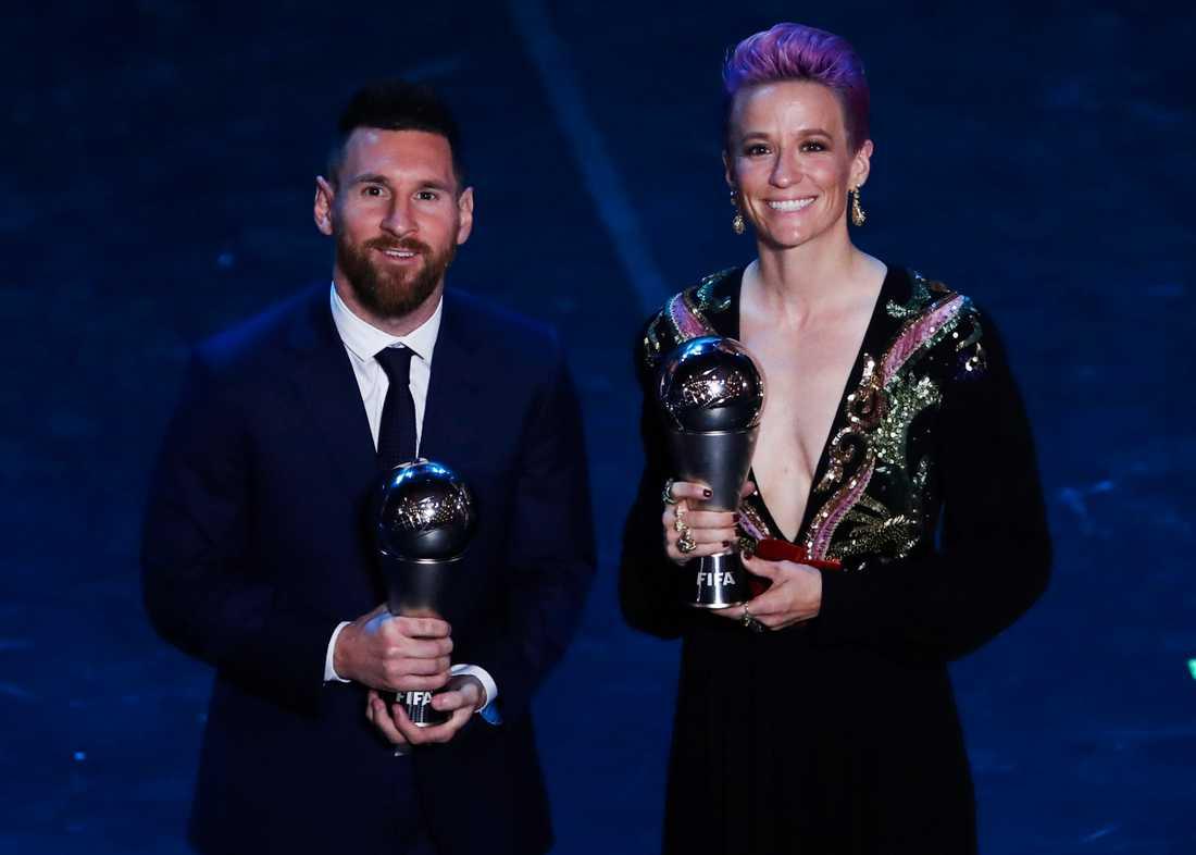 Messi och Rapinoe blev korade till årets bästa.