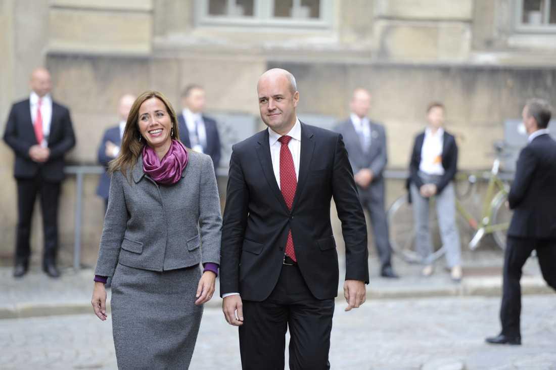 Fredrik Reinfeldt med sin fru Filippa.