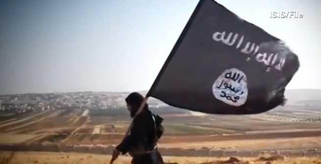 """Bygger """"kalifatet"""". Bild från en av IS egna propagandafilmer."""