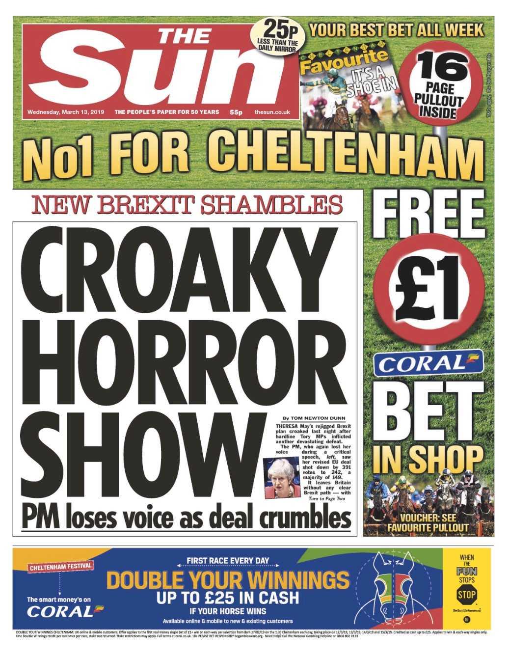Brittiska tabloiden The Sun anmärkte att Mays röst var bräcklig under omröstningen.