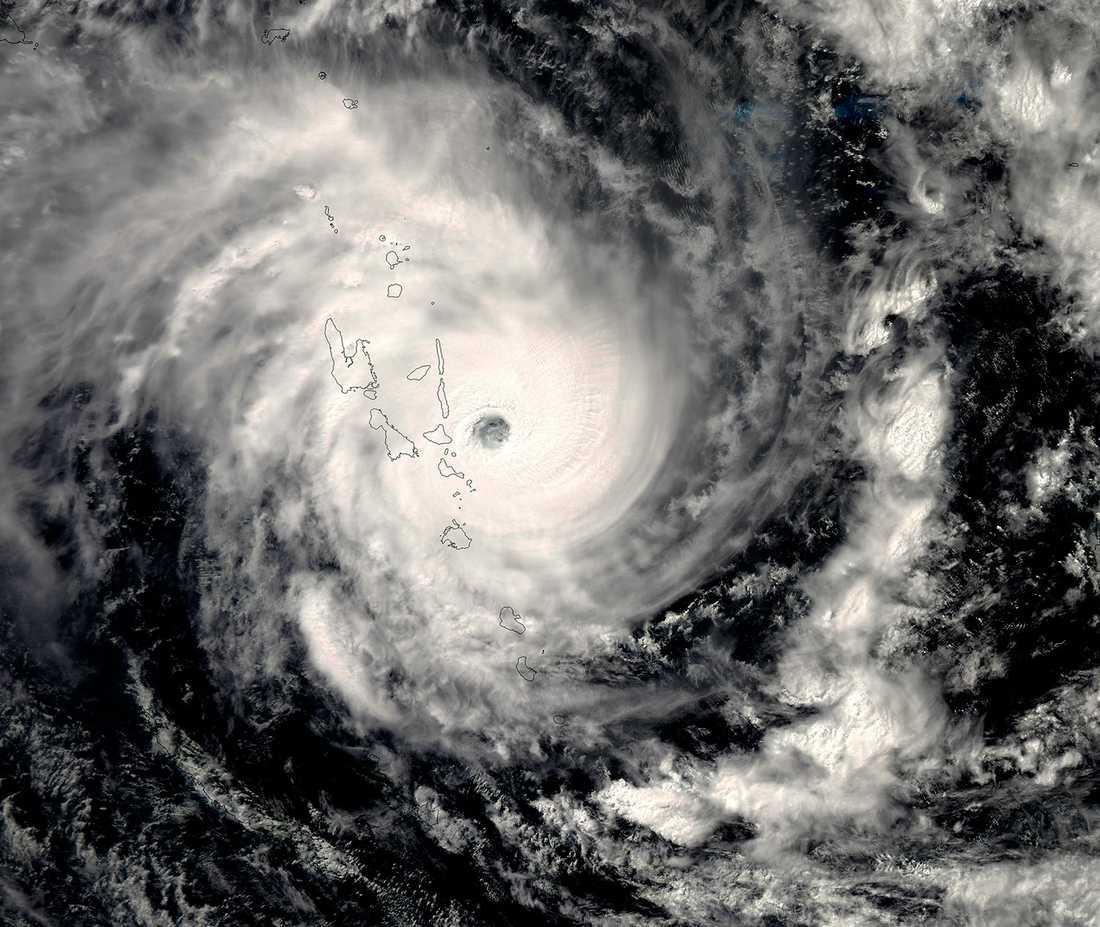 Ögruppen Vanuatu låg mitt i cyklonen Pams väg.