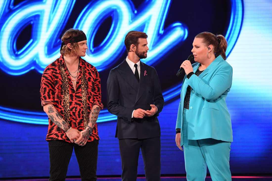 """Det stod mellan Kim Lilja och Ellie Lilja om vem som skulle få vara kvar i """"Idol""""."""