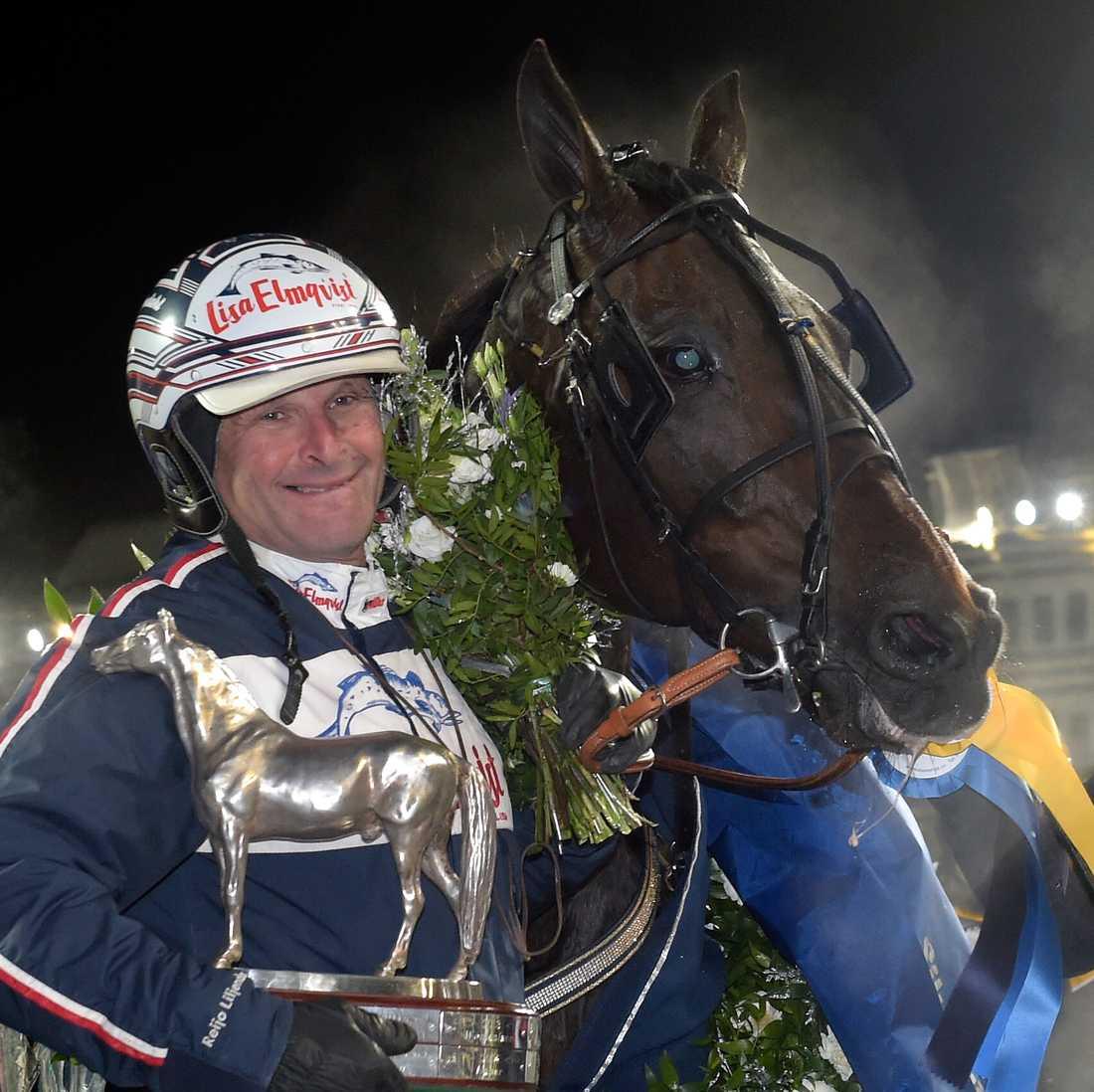 Reijo Liljendahl efter segern med Nadal Broline.