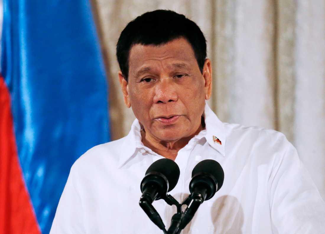 Rodrigo Duterte är Filippinernas president.