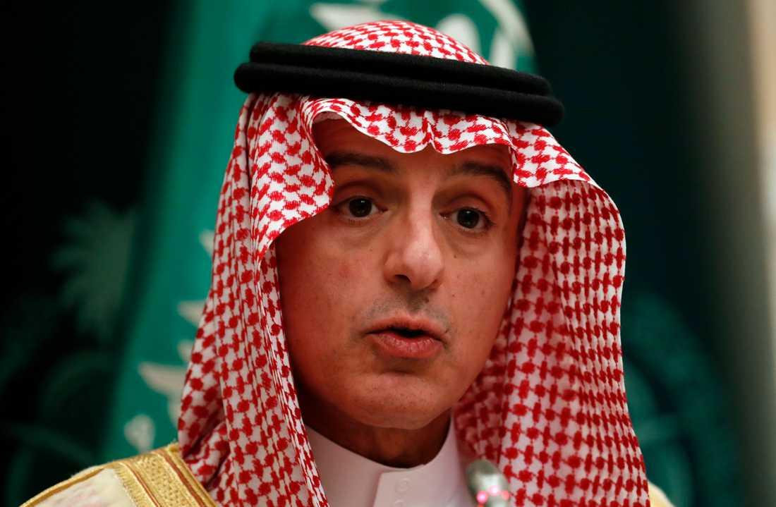 Adel al-Jubeir, saudisk minister med ansvar för utrikesfrågor. Arkivbild.