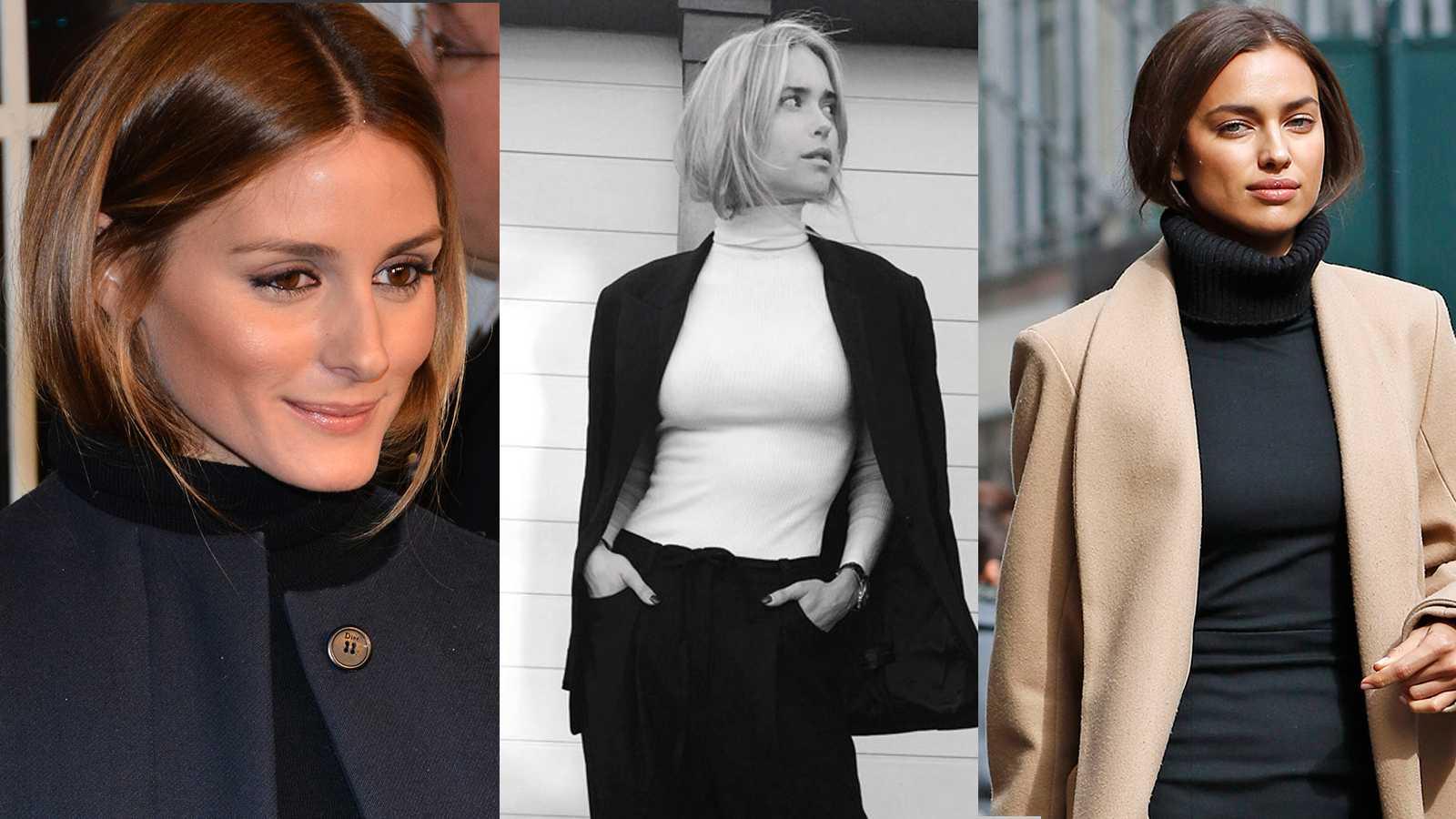 Modeprofilen Olivia Palermo, vår egen superbloggare Pernille Teisbæk och modellen Irina Shayk i trendiga polo-pagen.
