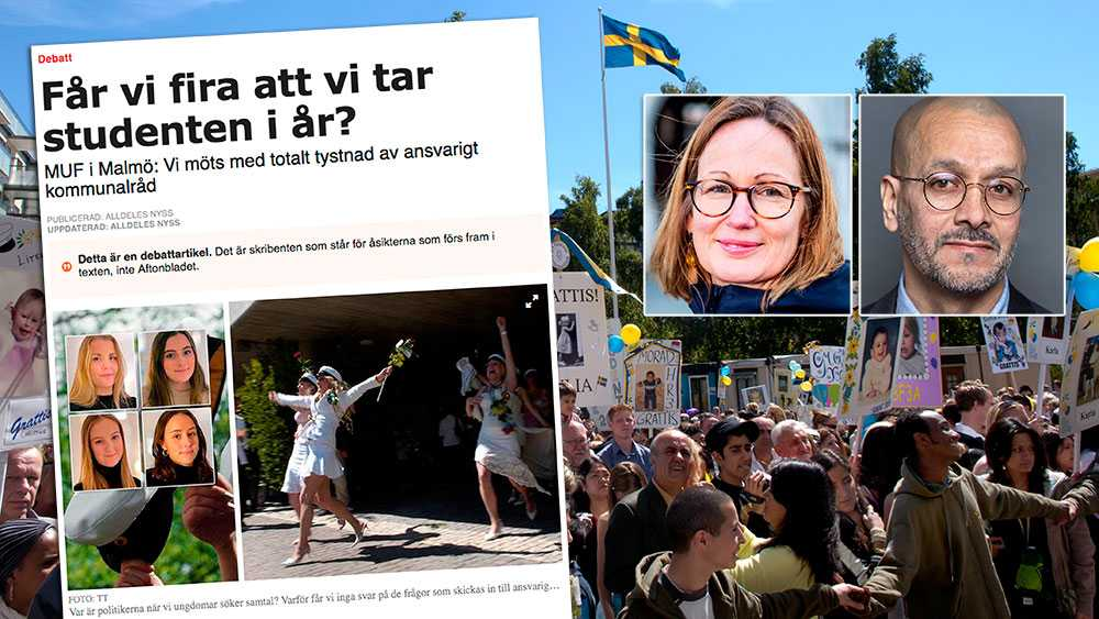 Vi har varit tydliga med att firandet inte kommer att kunna genomföras som vanligt. Skälet till att svaren inte innehållit fler detaljer än så är att det inte är upp till politiken att stå för dem, utan varje gymnasieskola för sig, skriver  Sara Wettergren (L) och Juan-Tadeo Espitia (S) i Malmö.