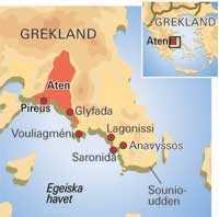 Karta Aten Grekland.Aten Och Rivieran Aftonbladet