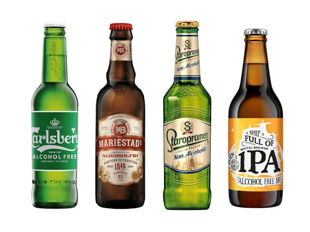 Mariestad alkoholfri, Carlsberg alkoholfri och Brutal Brewing alkoholfria är några av de mest sålda alkoholfria ölerna i matbutik.