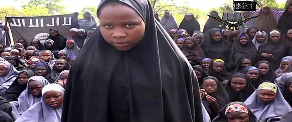 Terrorgruppen Boko Haram släppte en video på de kidnappade skolflickorna.