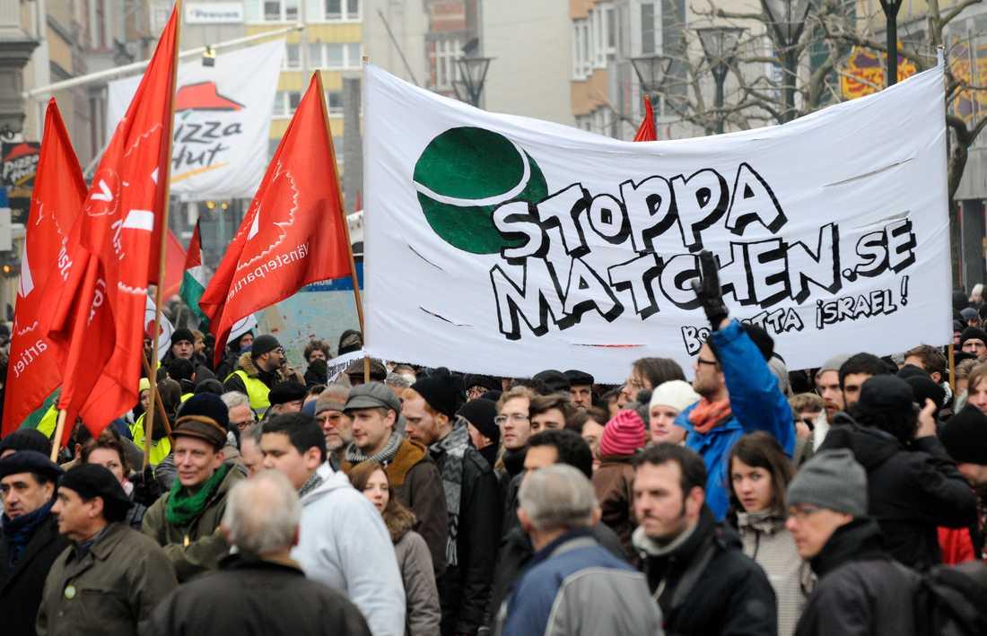 Det var stora demonstrationer i samband med DC-mötet mellan Sverige och Israel 2009.