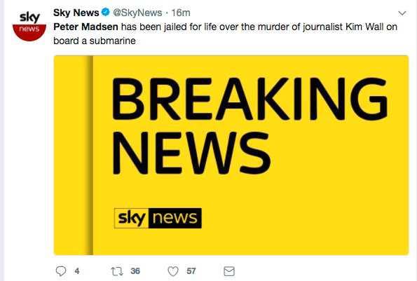 Sky News, Storbritannien.