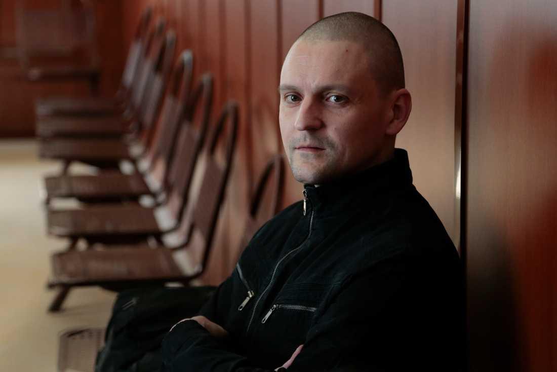 Ryska partiet Vänsterfrontens ledare Sergej Udaltsov.