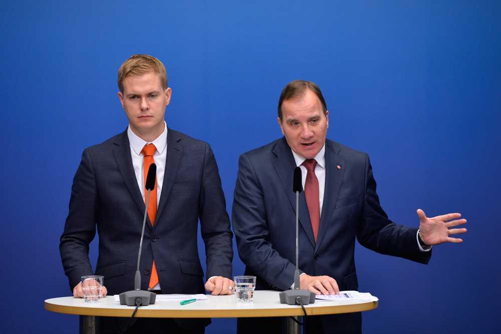 Gustav Fridolin och Stefan Löfven.