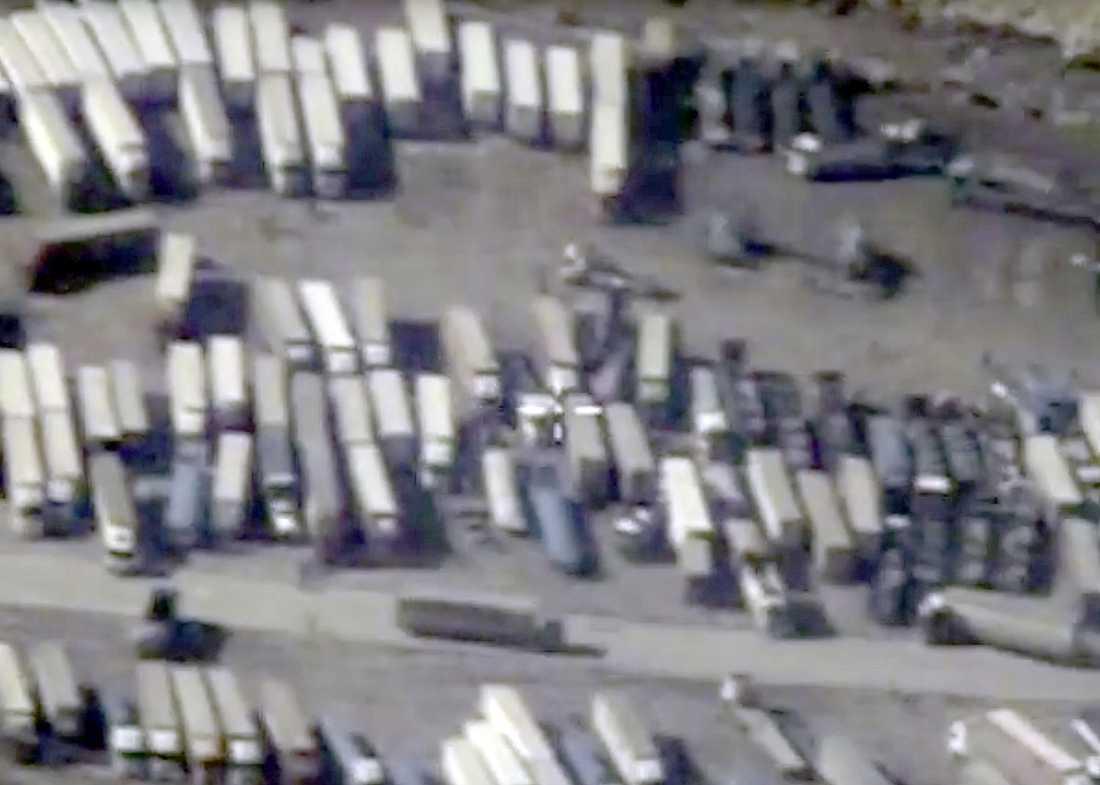 Bilder från turkiska gränsen mot Syrien, enligt Ryssland.