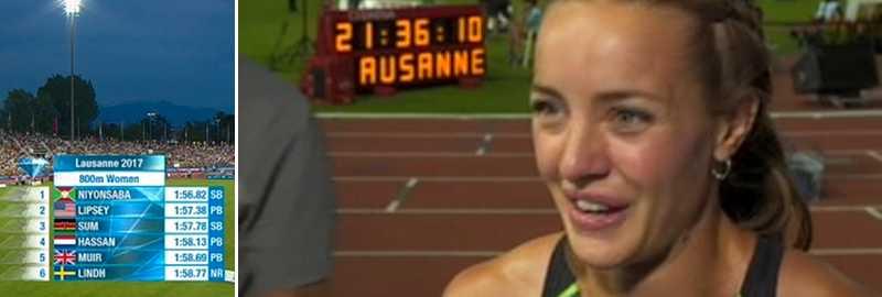 Lovisa Lindh slog Abeba Aregawis rekord.