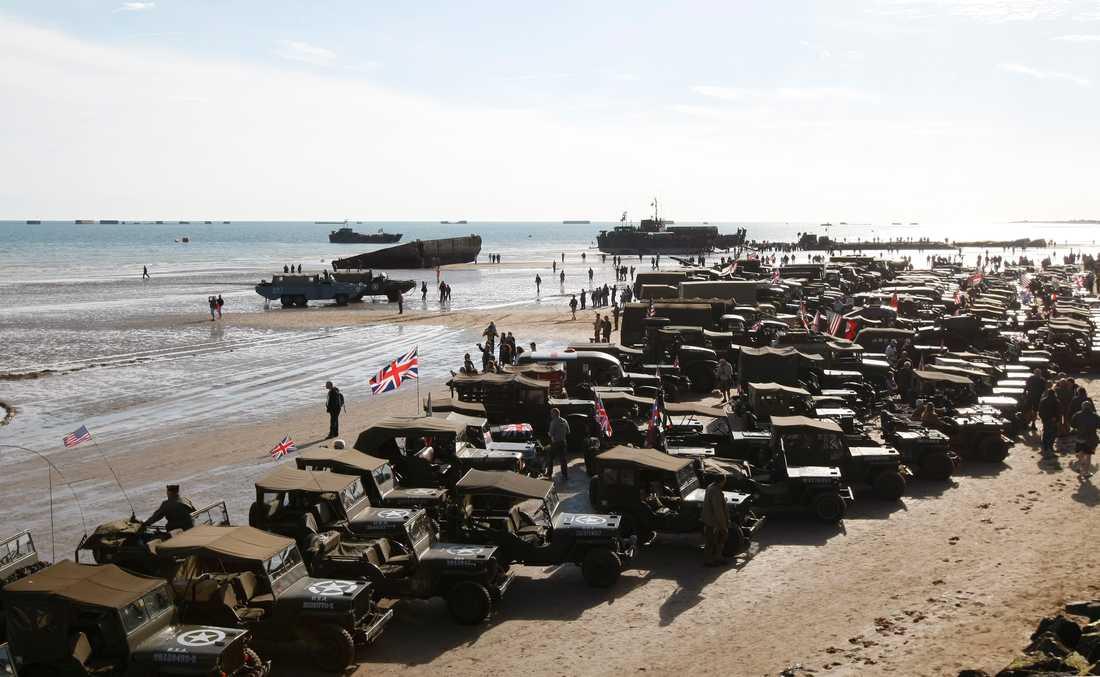 Bild från firandet av Dagen D i Normandie.
