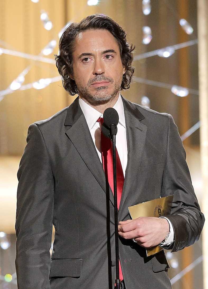 Robert Downey Jr gick till motattack från scenen.