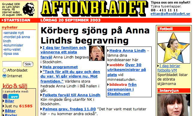 Aftonbladet 2003.
