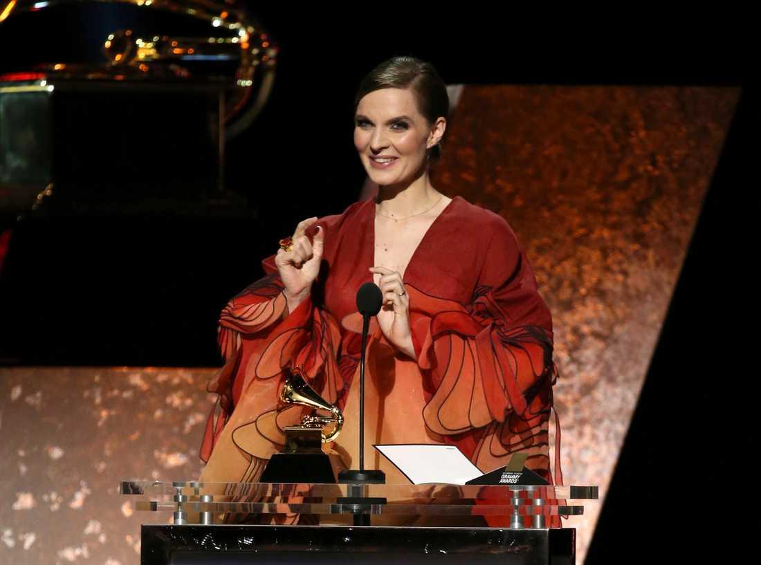 """Hildur Gudnadóttir prisades även under Grammy-galan tidigare i år, då för musiken till """"Chernobyl"""". Nu har hon tilldelats ännu ett pris för sin musik till """"Joker"""". Arkivbild."""