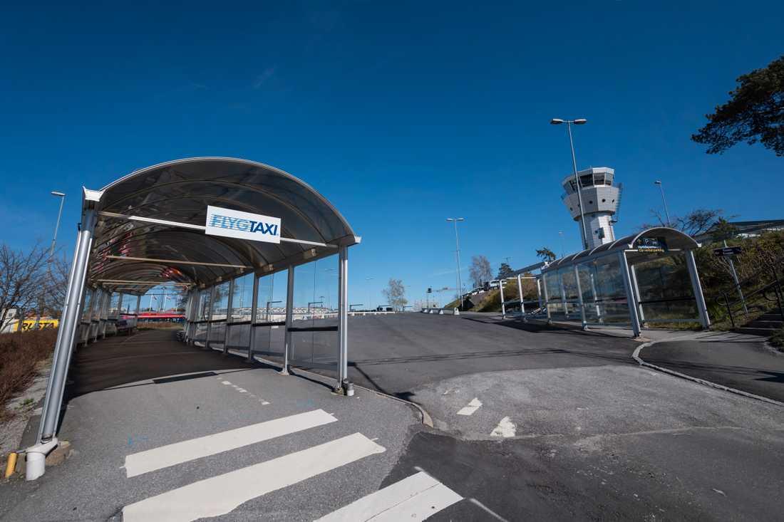 Covid-19-pandemin har slagit hårt mot Bromma flygplats. Arkivbild.