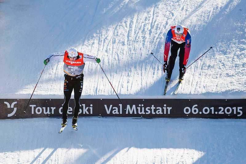 Dagen innan sprintloppet i Val Müstair under Tour de Ski slog sig två ledare blodiga i det här hoppet. Man beslutade då att ta bort det när det var dags för tävling.