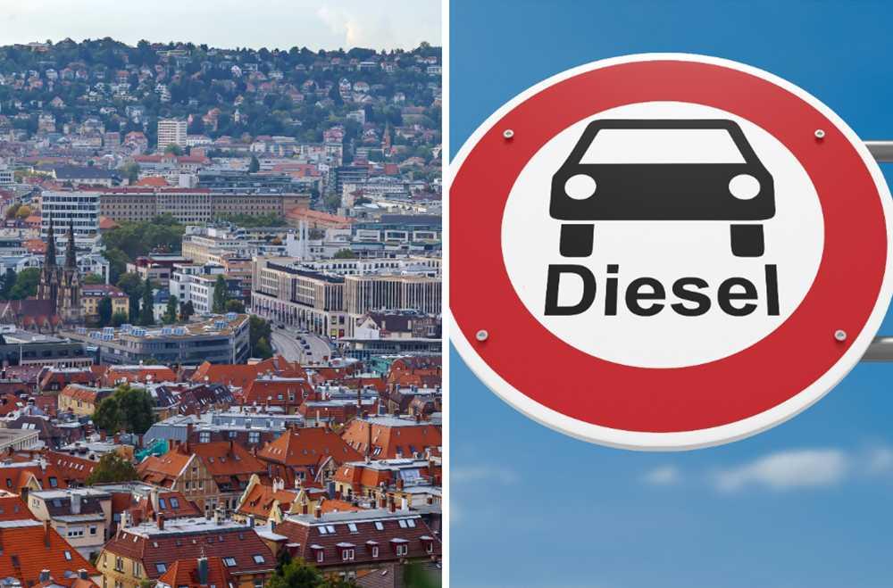 Dieselbilar kan snart förbjudas i bland annat Stuttgart.