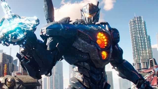 En av robotarna som jagar monstren.