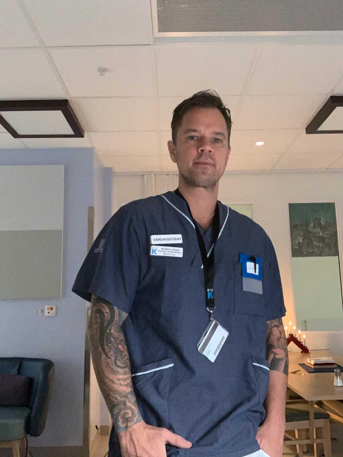 Anders Litzen, 41, har själv börjat jobba på sjukhus.