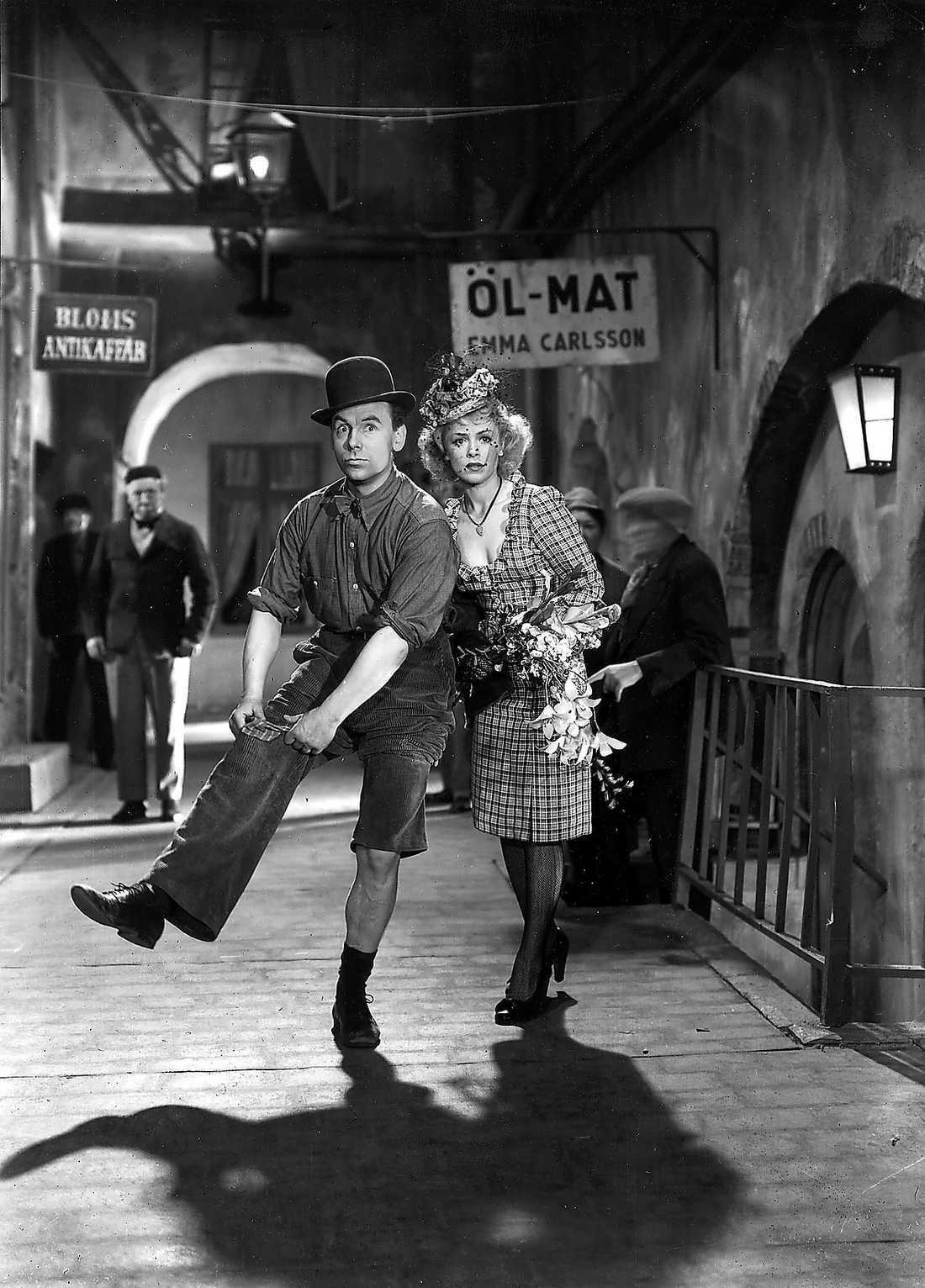 """""""GREVEN FRÅN GRÄNDEN"""" Film från 1949 med bland andra Nils Poppe i en huvudroll."""