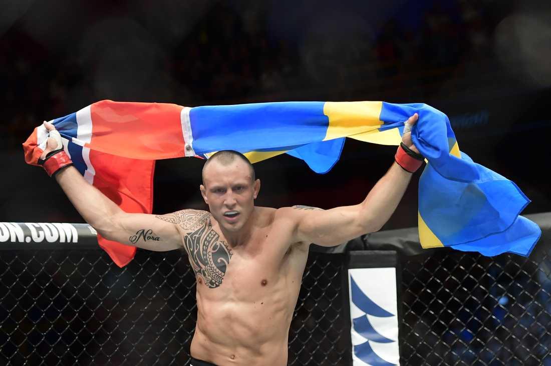 Jack Hermansson under en UFC-gala i Globen. Arkivbild.