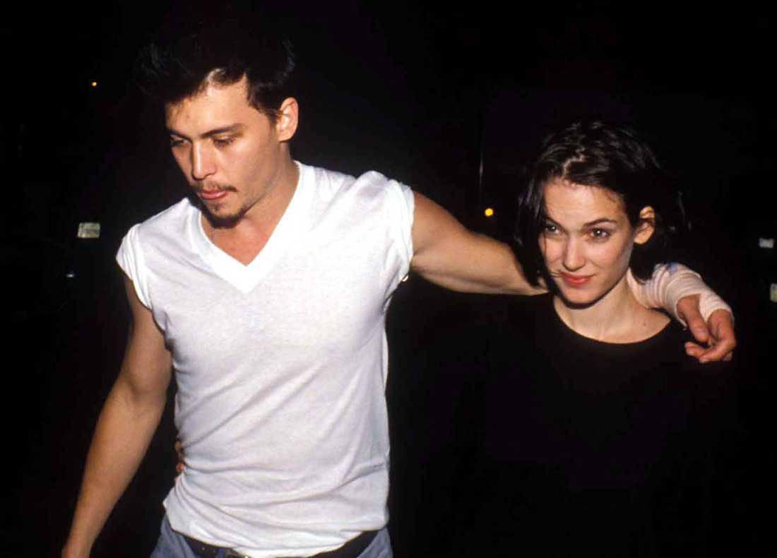 """""""Jag har aldrig varit med om något liknande"""", sa Johnny Depp om när han och Winona Ryder möttes 1989 – och blev störtförälskade."""