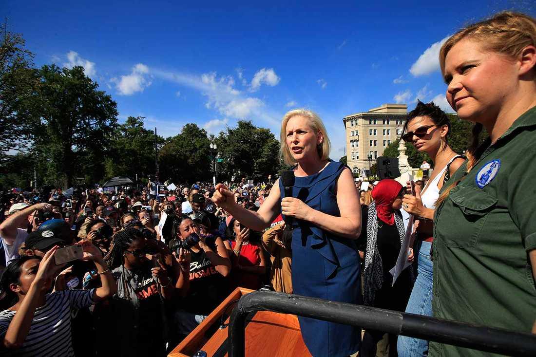 Amy Schumer vid demonstrationen i Washington.