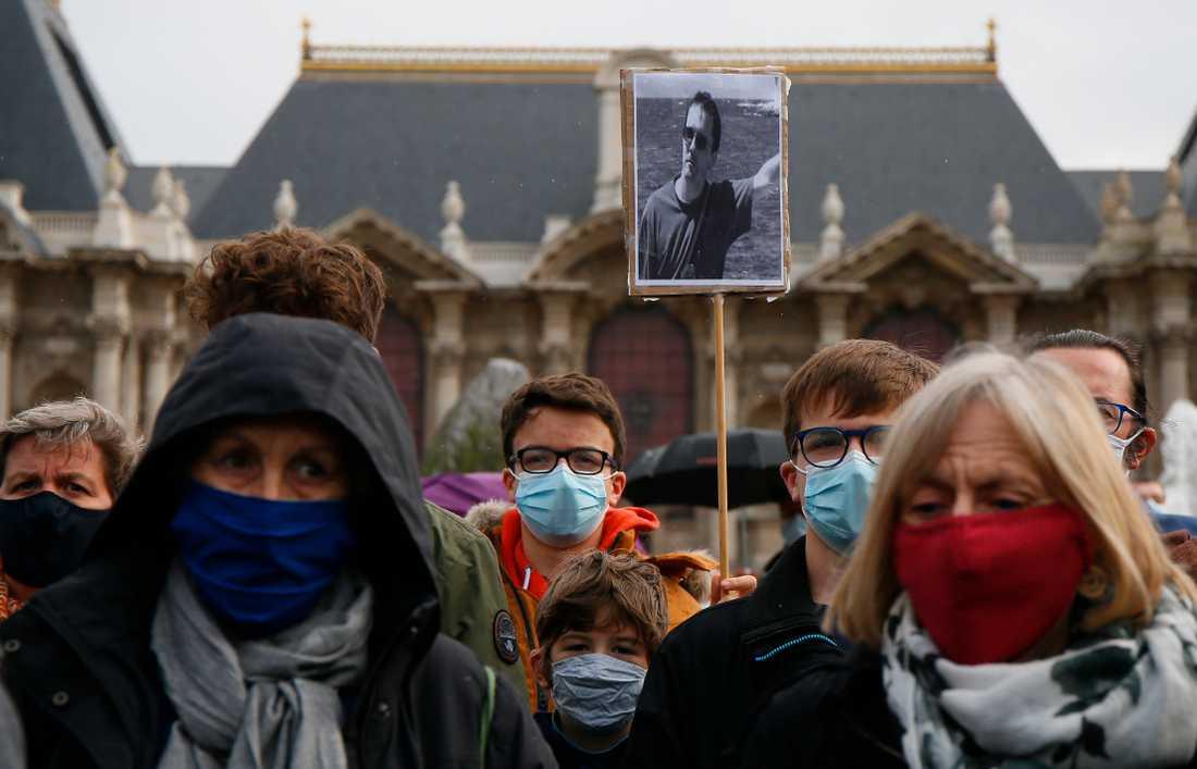 I söndags hölls manifestationer runt om i Frankrike mot det islamistiska terrordådet mot läraren Samuel Paty utanför Paris.