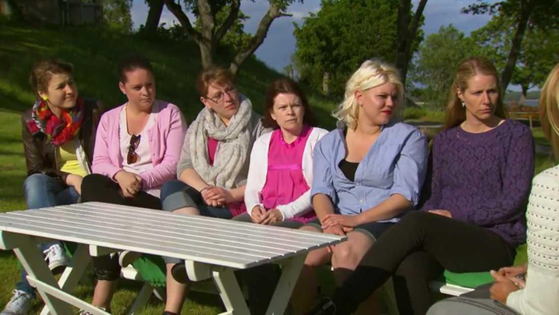 Ingen av de sex tjejerna föll Marcus på läppen.