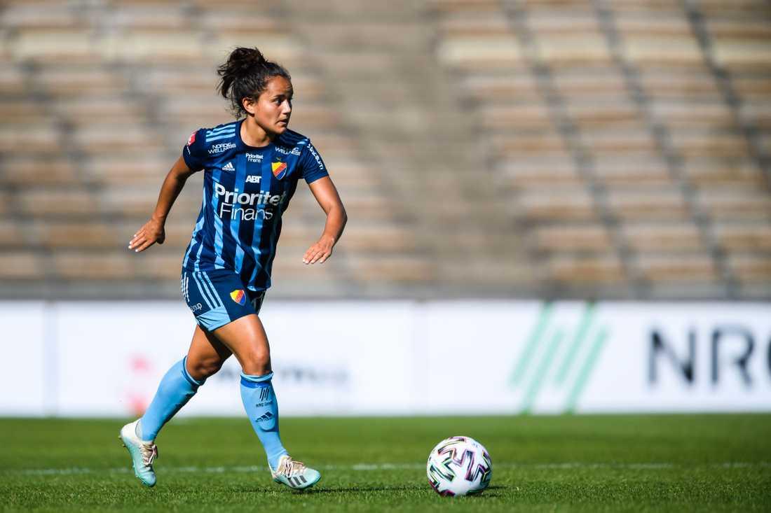 Malin Diaz är gravid och missar säsongen med Djurgården i Damallsvenskan.