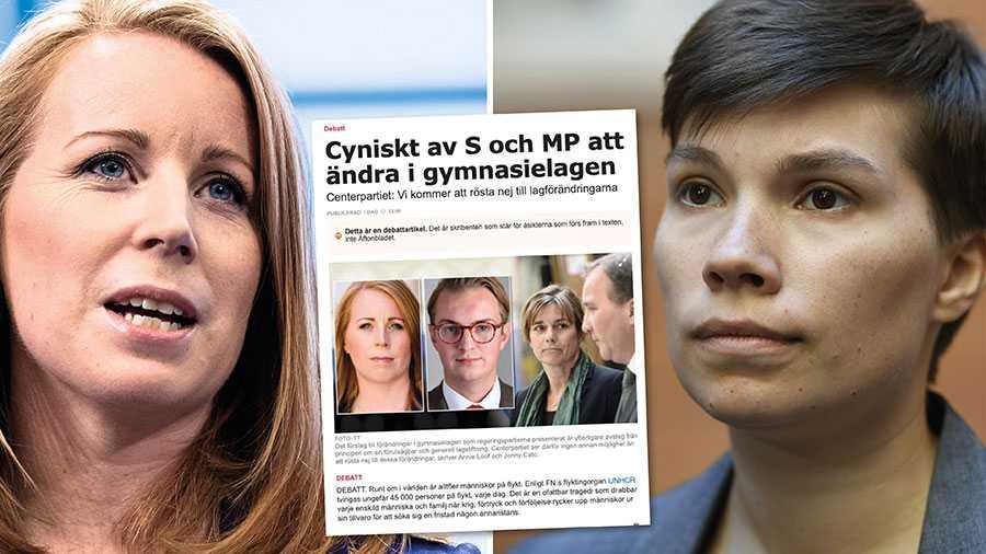 De ensamkommande gymnasieungdomarna har litat på Centern. Partiets tvära lappkast i ett sent skede i frågan gör dessa ungdomars liv och hela framtid till ett politiskt spel. Det om något är ett cyniskt svek, skriver Annika Hirvonen, MP.