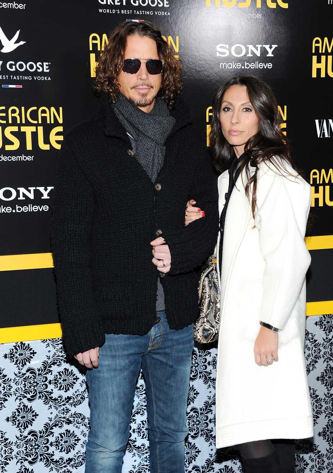 Chris Cornell tillsammans med frun Vicky Karayiannis.